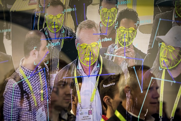 Attendees interacted with a facial recognition demonstration in Las Vegas in 2019.
