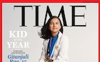 This undated photo provided by Time Magazine shows the cover of its Dec. 14, 2020 issue, featuring a 15-year-old Colorado high school student and youn