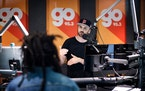 Peter Parker at work in the Go 95.3 FM studios in Minneapolis in 2016.