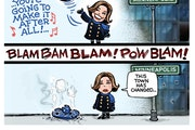 Sack cartoon: Not Mary's town