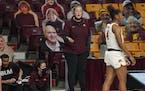Minnesota Gophers head coach Lindsay Whalen in the first half. ] RENEE JONES SCHNEIDER renee.jones@startribune.com University of Minnesota Gophers wom