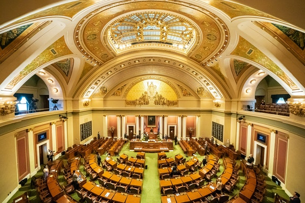 This file photo shows the Minnesota House chambers. Gov. Tim Walz is calling lawmakers back for another special session next week.