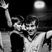 Aug. 11, 1976: Alan Merrick, captain of the Minnesota Kicks, hoisted his son, Adam, 4 years old, for a victory wave after the Kicks stomped the Los An