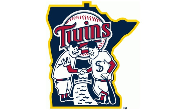 Minnie and Paul on the current Twins logo.