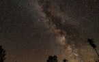 The nighttime sky seen over Voyageurs National Park.