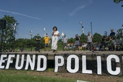 In June, Council Member Alondra Cano spoke at Powderhorn Park in Minneapolis.