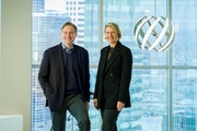 Värde Partners co-founders George Hicks and Marcia Page. Värde invests in the distressed debt of companies buffeted by recession, restructuring or o