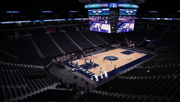 The Timberwolves returned to action Saturday by playing an exhibition with the Grizzlies in an empty Target Center.