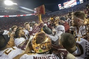 After 15 years Minnesota took back the Paul Bunyan Axe after defeating Wisconsin 37-15 at Camp Randall Stadium, Nov. 24, 2018 in Madison, Wis.
