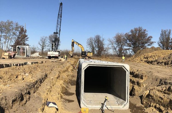 As part of a $108 million Hwy. 14 project, the state constructed a concrete culvert to provide safe passage for wildlife underneath the highway.