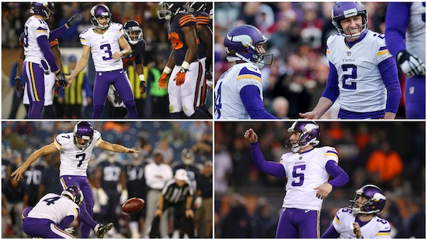 Zimmer's kickers have a history of disappointing the Vikings