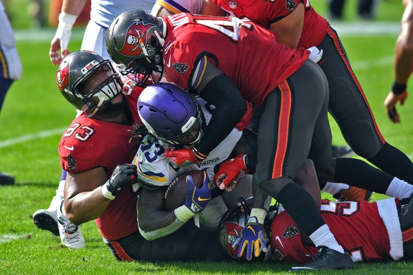 The Vikings playoff chances took a hit by loising Sunday to Tampa Bay.