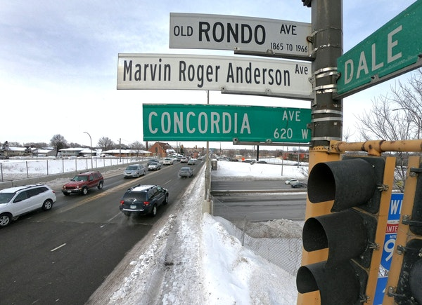 The construction of Interstate 94 tore a hole through Rondo, St. Paul's historic black neighborhood.