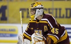 Gophers goalie Jack LaFontaine stopped 67 of 68 shots in a sweep of Michigan.