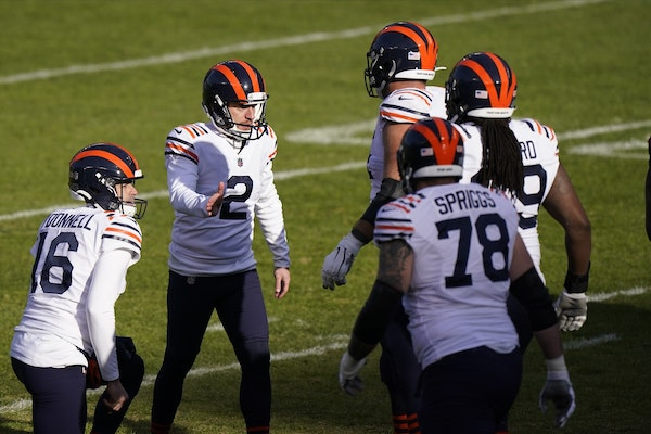 Bears kicker Cairo Santos had a big day in Houston, and has made 18 consecutive field goal tries.