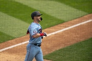 Ryan Jeffers beamed as he approached home after a home run on Sept. 13 at Target Field.