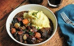Beef Bourguignon adds a flair of sophistication.