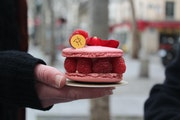 Sharyn Jackson's culinary travels started in Paris, eating pastries like this with Patisserie 46's John Kraus.