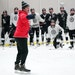 The Minneapolis high school hockey team practiced lin January. Teams will be able to resume practice on Jan. 4, but no date has been set for a return