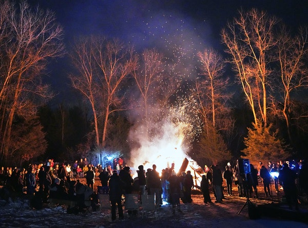 When there isn't a public health emergency, the Belwin Conservancy in Afton has a bonfire tradition on the solstice.