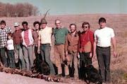 From left: Loral I Delaney, Doug Sutherland, Pud Hilgenberg, Sherry Delaney, Godfrey Zaunbrecher, Roy Winston Jr., Roy Winston, Nate Wright, David Hil