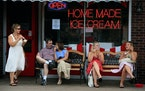 Star Tribune file The Grand Ole Creamery in St. Paul has been a popular ice-cream spot since opening in 1984. Here, people celebrate the Fourth of Jul