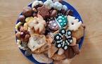 Christmas cookie platter from the Czech Baker.