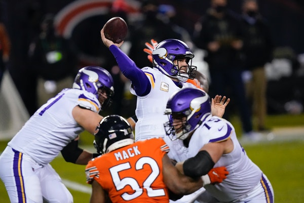 Expect to see plenty of pressure on Vikings quarterback Kirk Cousins from the Bears on Sunday.