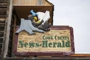The Cook County Herald office building in Grand Marais, Minn. was covered in a light snow on Wednesday December 16, 2020. ] ALEX KORMANN • alex.korm
