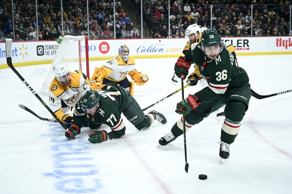 The Wild and Predators played at Xcel Energy Center on March 3, one of the last NHL regular season games before the season shut down for five months.