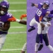 Vikings running back Dalvin Cook (left) and wide receiver Justin Jefferson were selected to the Pro Bowl, but the actual game won't be held this yea
