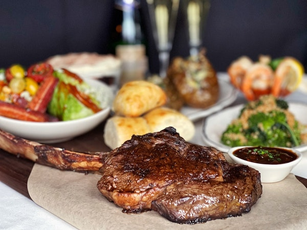 New Year's Eve steak dinner from the Lexington.