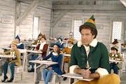 "Will Ferrell (right) stars as ""Buddy"" the Elf in ""Elf."""