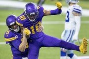 Vikings wide receiver Justin Jefferson (celebrating a touchdown catch with Kirk Cousins against Dallas in November) said his remarks during the Bears