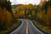 The fall colors were near their their peak along the Gunflint Trail in Grand Marais, Minn., in September.