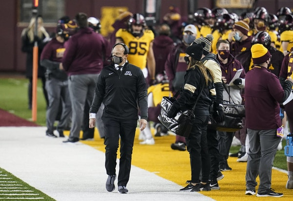 RENÉE JONES SCHNEIDER • Star Tribune Gophers coach P.J. Fleck reeled in a once-promising wide receiver recruit who had mostly been idling for one o