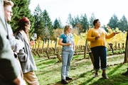 Chevonne Ball, second from right, brings clients to a hidden gem in Oregon's Willamette Valley, RR Wines.
