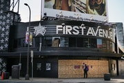First Avenue was boarded up in June, in the aftermath of unrest throughout the city.