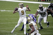 Saints quarterback Drew Brees has played two games in five days since returning from 11 broken ribs and a punctured lung.