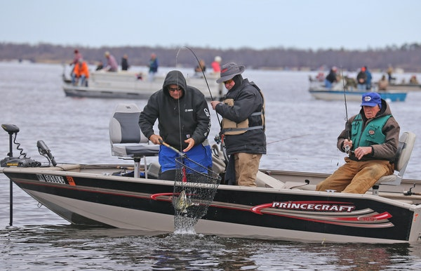 This busy scene from Upper Red Lake on opening day of the 2020 walleye season foreshadowed a statewide surge in fishing and greater participation in m