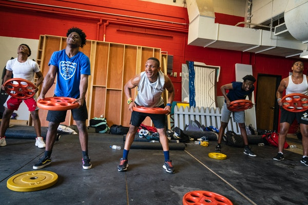 The Minneapolis North football team gathered at school on the first available day for workouts in summer 2020, a time when weighty matters overwhelmed