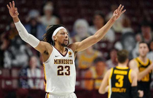Forward Brandon Johnson appeared to turn a big corner Friday with eight three-pointers for the Gophers against No. 4 Iowa.