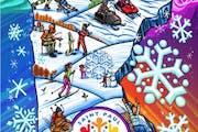 2021 Winter Carnival button    design by Adam Turman.