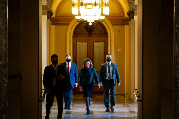 House Speaker NancyPelosi(D-Calif.) walked to her office after opening the House floor at the Capitol in Washington on Monday, Dec. 28, 2020.