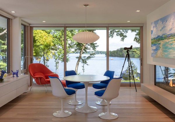 """Architect Charles Stinson, with his wife, Carol Eastlund, designed their home on Lake Minnetonka's Shady Island. """"It connects us to nature and to"""