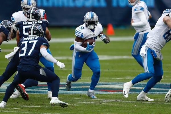 Lions running back D'Andre Swift