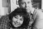 "Roseanne Barr and John Goodman in ""Roseanne,"" which made full use of the closing credits."