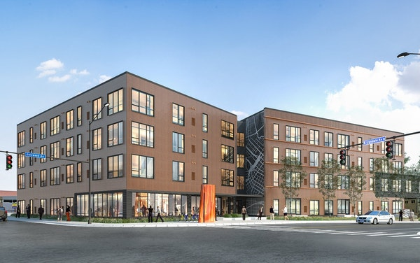 Shelby Commons, a 46-unit affordable apartment building at Lyndale and Glenwood avenues, will be constucted in 2021-22 and managed by PPL and Woda Coo