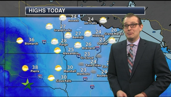 Morning forecast: Partly sunny with a high of 24