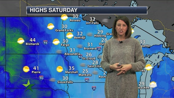 Morning forecast: 28, lingering cloud cover